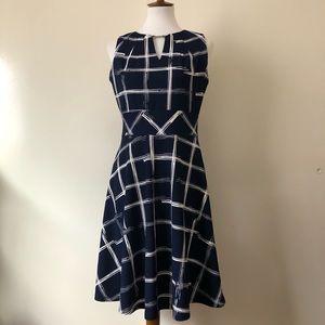 Liz Claiborne Navy Blue & White Dress Sz 6